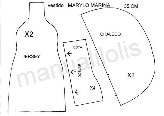 Patrones de ropa de Marina