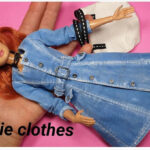Vestido Abrigo azul vaquero para muñeca Barbie