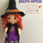 Muñeca Brujita Matilda en fieltro con moldes