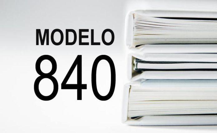 rellenar modelo 840