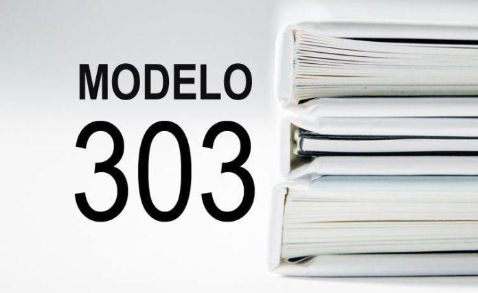 cómo rellenar el modelo 303