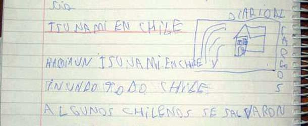 Niño de ocho años predijo el mortal terremoto y tsunami de Chile horas antes de que ocurriera