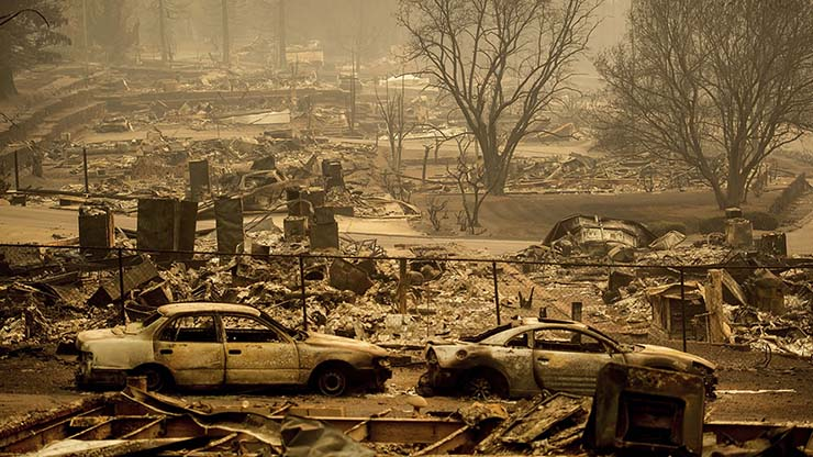 california fires - Images show that California's historic fires were caused by directed energy weapons
