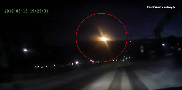 UFO crashing in Russia - Dozens of people see a UFO crashing in Russia, near Tunguska