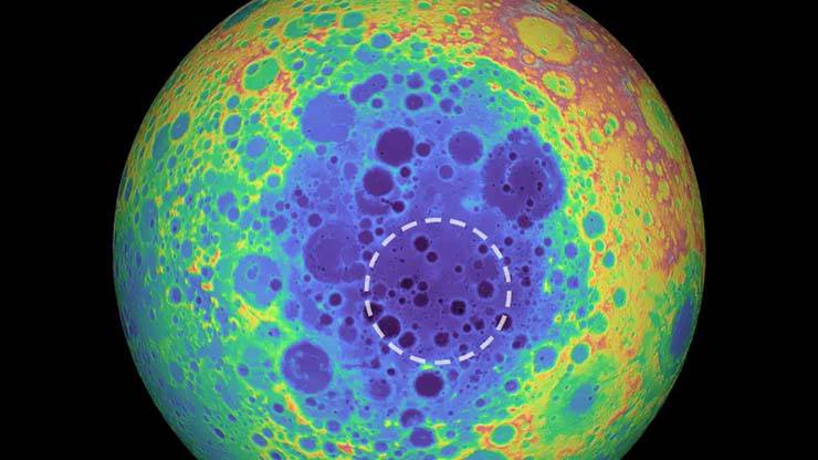huge metallic structure hidden moon - Scientists have discovered a huge metal structure hidden beneath the surface of the Moon metal structure hidden beneath the surface of the Moon