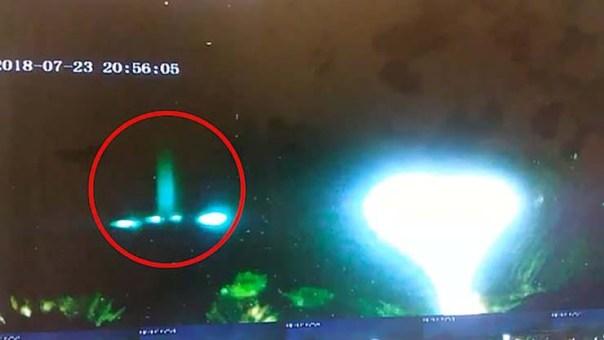 vigilante seguridad ovni - Un vigilante de seguridad se sorprende al ver un OVNI despegando de una construcción en California