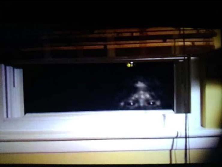 fenêtre bigfoot - Un couple marié photographie un Bigfoot regardant par la fenêtre de leur maison dans le Colorado