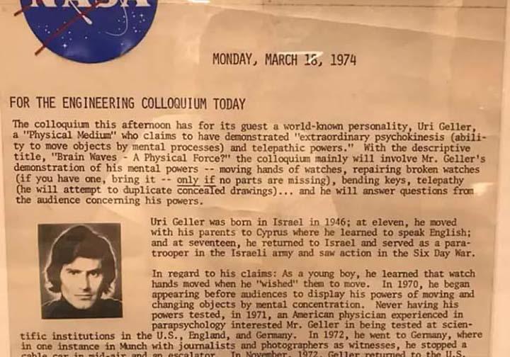 Uri Geller aliens nasa - Uri Geller dit qu'il a vu des extraterrestres dans les installations de la NASA