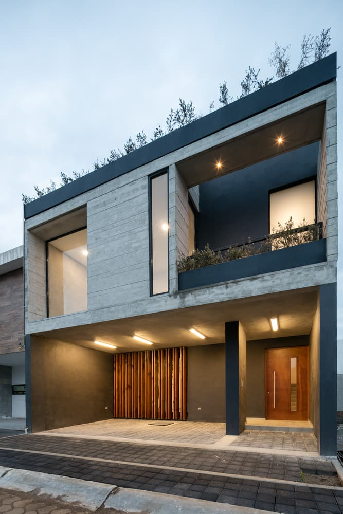 Diseo de casa rstica moderna con planos e interiores