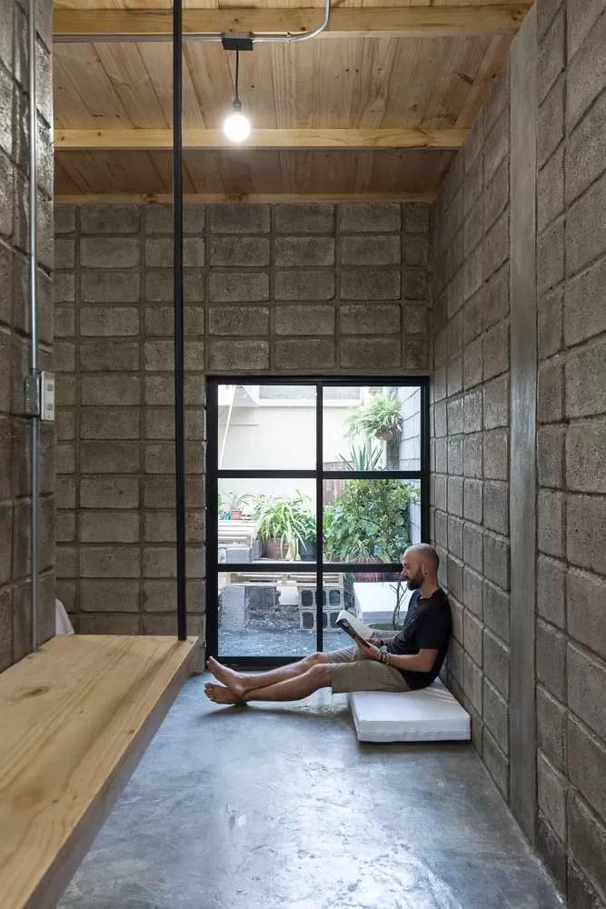La casa entre bloques simple diseo de interior y planos