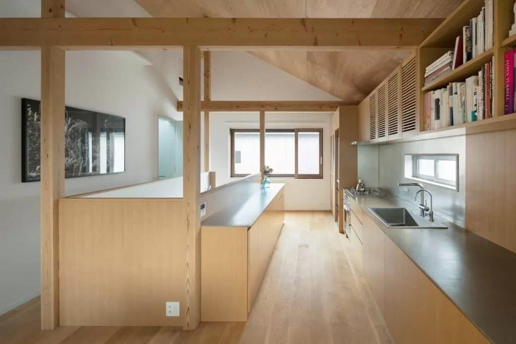 Casa de estilo japones conoce su diseo interior moderno en madera y planos  Mundo Fachadas