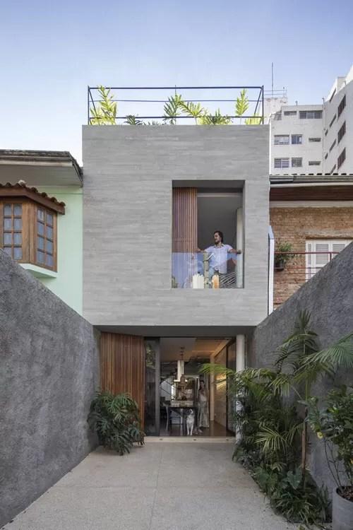 Casa pequea construida en terreno angosto de 4 metros de ancho te enseamos como aprovechar el