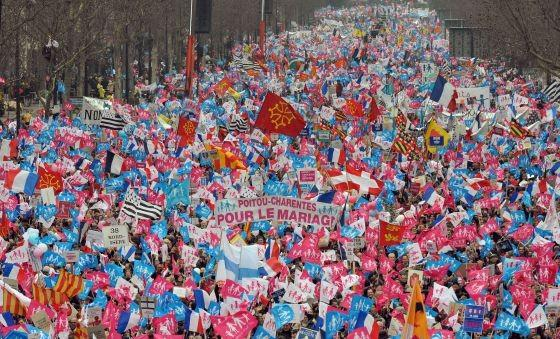 Escena de la manifestación