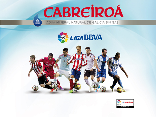 Nuestra agua mineral Cabreiroá se convierte en agua oficial de la Liga de Fútbol Profesional