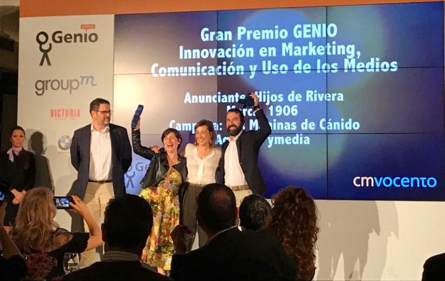 Premios Genio a la campaña Meninas de Canido