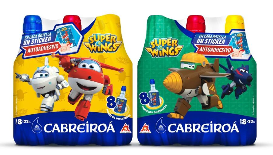 Super Wings Stickers retráctil
