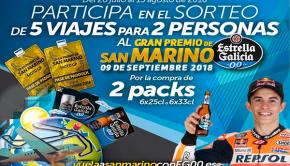 Sorteo de 5 viajes para 2 personas al GP San Marino