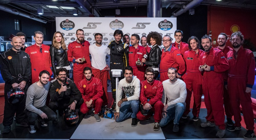 Carlos Sainz Karting evento con Estrella Galicia 0,0