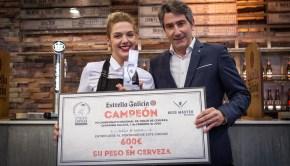 Paula Isabel Balleste Campeonato Gallego de Tiraje de Cerveza Estrella Galicia
