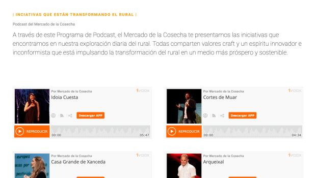 Landing web - Podcast Mercado de la Cosecha 'Artesanos del Rural'