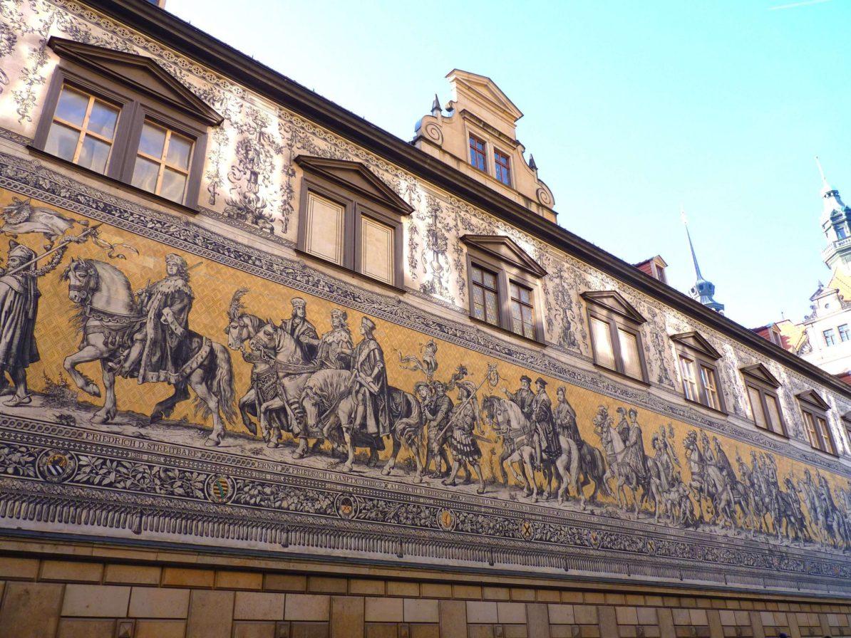 Fürstenzug 03 Dresden Alemanha Mundo Indefinido