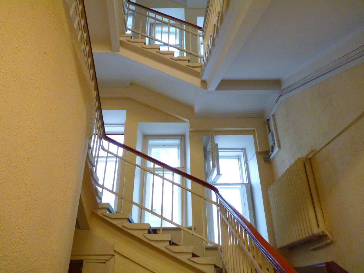 Sputnik Hostel and Personal Space sala escadas Moscovo Rússia Mundo Indefinido