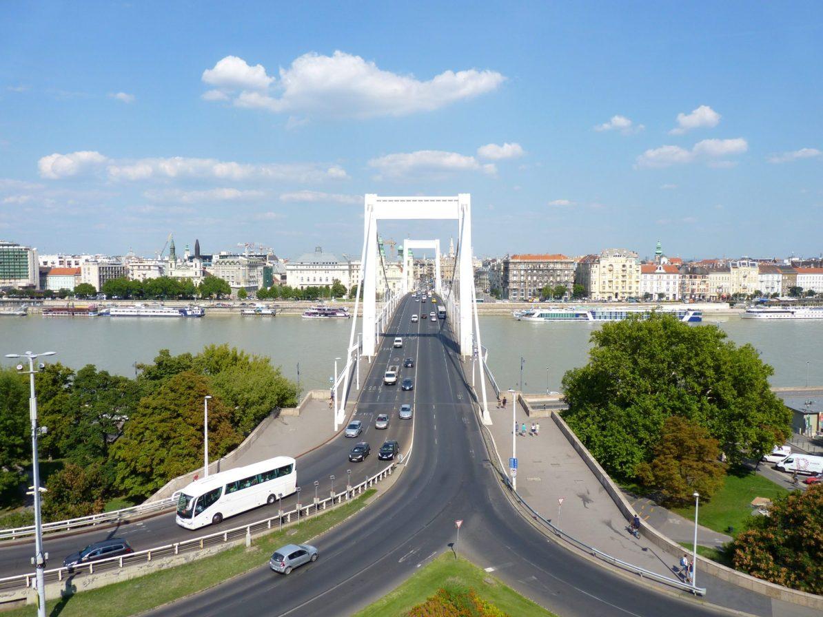 Ponte Erzsébet 02 Budapeste Hungria Mundo Indefinido