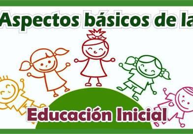 🤗Aspectos básicos de la Educación Inicial🥰