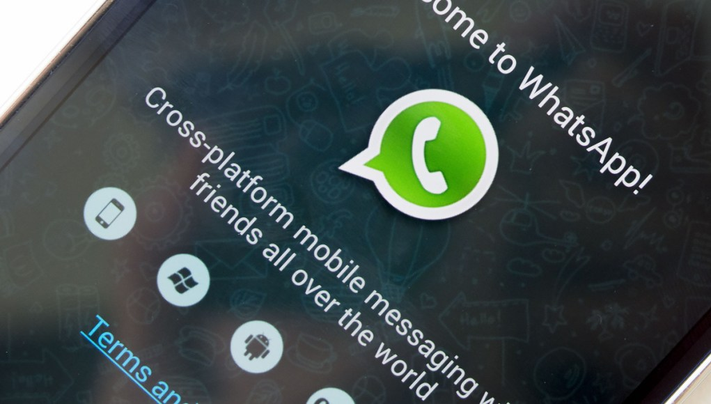 Pantalla de inicio de WhatsApp para Windows Phone
