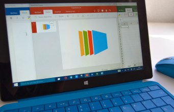 PowerPoint en Surface Pro 2