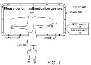 Imagen boceto de la variedad de tamaños en una nueva patente de Microsoft para el desbloqueo de equipos