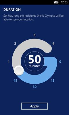 Cronometro de Glympse