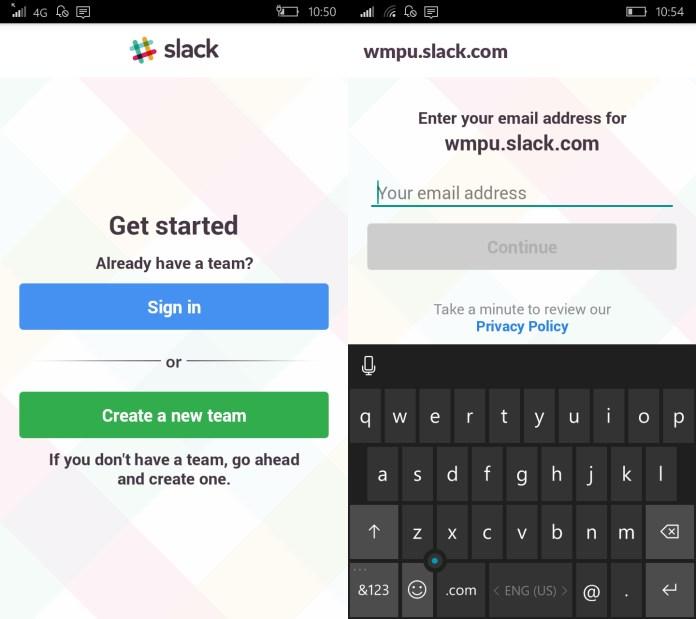 Capturas de Slack de Android en Windows 10