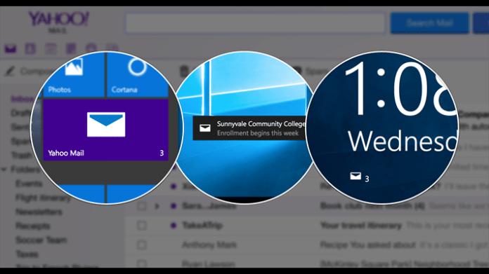 Captura de pantalla de Yahoo Mail