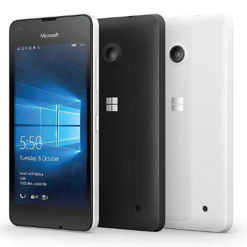 Lumia 550 blanco y negro