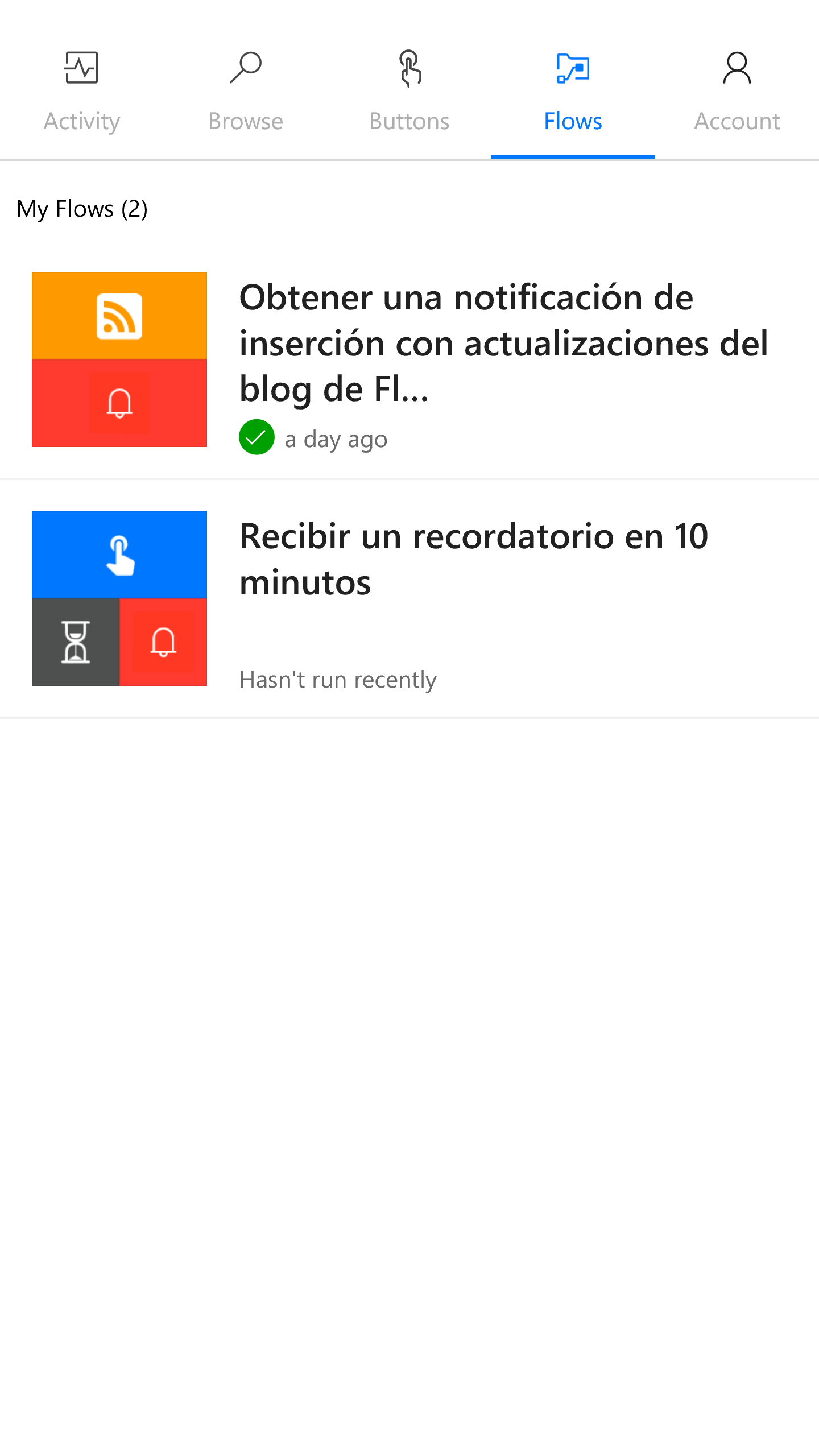 Microsoft Flow llega a Windows 10 Mobile
