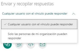 Compartir formulario con Forms