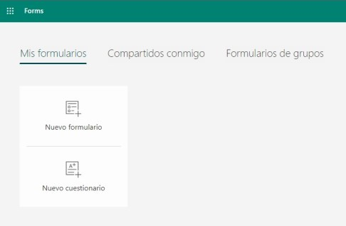 Microsoft Forms crear nuevo formulario y cuestionario