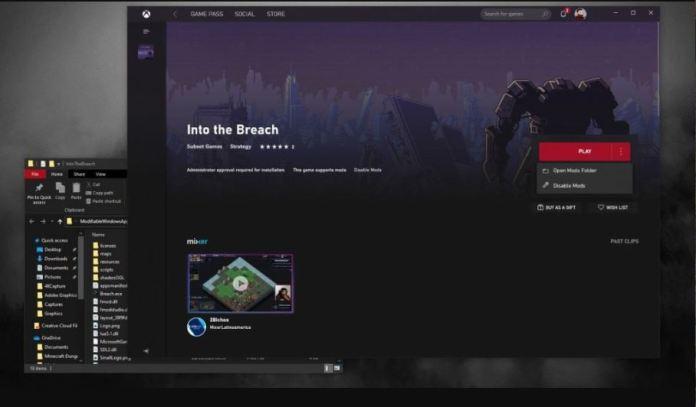 La aplicación de Xbox mostraría el soporte de mods en juegos de Microsoft Store