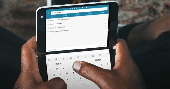 Microsoft muestra Surface Duo en sus distintos modos