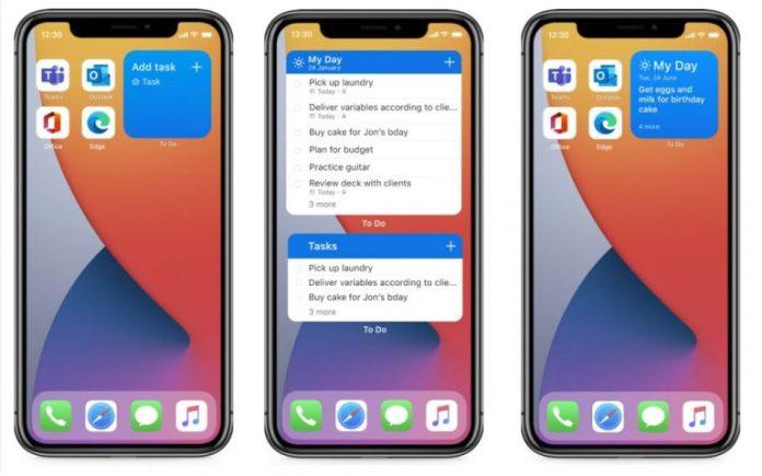 Los widgets de Microsoft To Do para iOS 14 ya están disponibles para todos