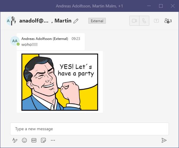 Microsoft Teams permite añadir usuarios externos a los chats de grupo