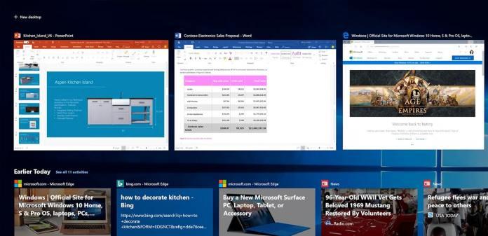 Microsoft restringirá la función Timeline de Windows 10 en julio