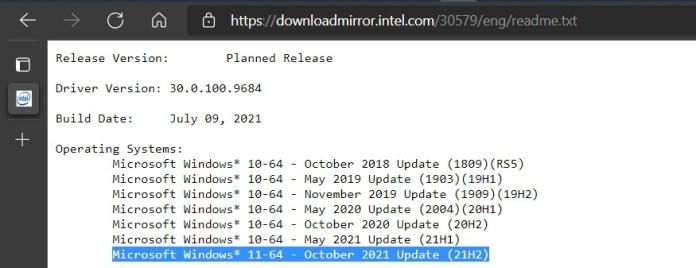 Un documento interno de Intel apunta a una posible fecha de lanzamiento de Windows 11