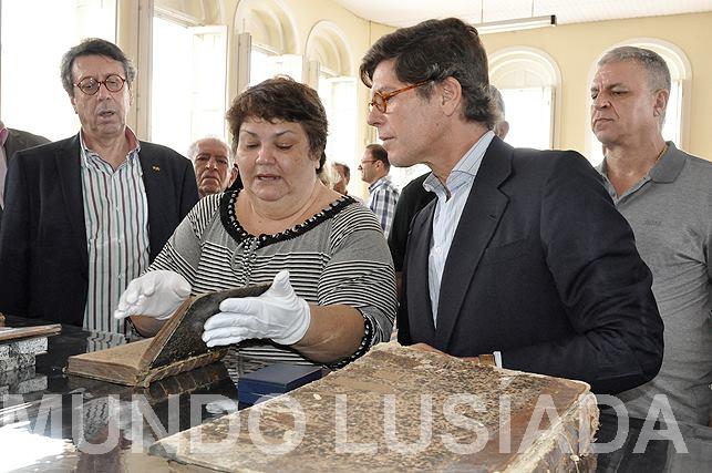 O Embaixador de Portugal em visita a biblioteca do Grêmio Literário Português em Belém do Pará.