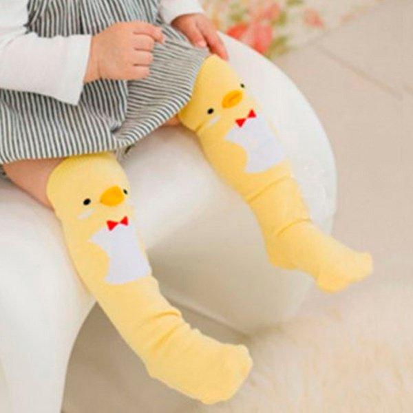 Meia infantil pintinho bebê sem anti derrapante
