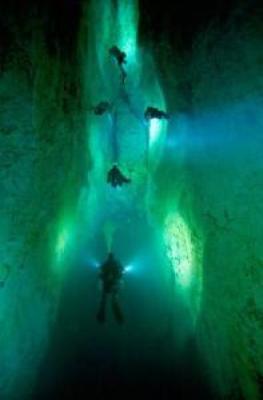 Las últimas imágenes impresionantes en alta mar del veterano fotógrafo muerto mientras filmaba bajo el agua - 'Cascade Room' en los agujeros azules en las Bahamas 4