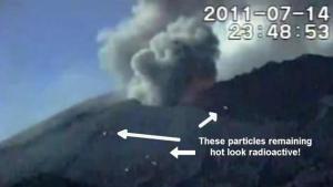 Ovnis sobre el Volcán Sakurajima en erupción – 14 de julio 2011