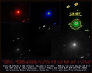 El cometa Elenina huele a almendras amargas 2