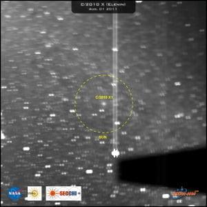 El diámetro de la coma del cometa Elenin supera los 200.000 kilometros